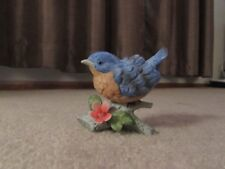 Homco Bluebird on Log Bird Figurine