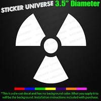 RADIOACTIVE Ionizing Hazard Symbol Car Window Decal Bumper Sticker Warning 0048