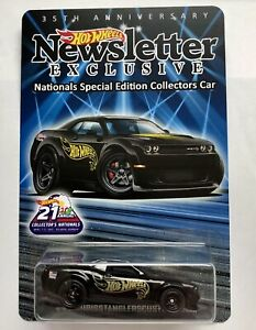 Hot Wheels 2021 Newsletter Dodge Demon 21st Nationals Convention ~ Only 775 Made