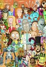 Rick & Morty Art Collage Poster | All Characters | NEW | USA | Free Shipping