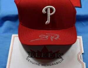 Scott Rolen Jsa And Fleer Autograph Phillies Baseball Hat