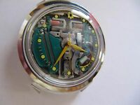 VINTAGE 1965 (M5) BULOVA ACCUTRON 214 SS YELLOW DOT SPACEVIEW WRISTWATCH (RUNS)