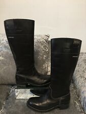 Genuine G-Star RAW Women's Patton Rider Black Leather Riding Boots Size UK 5