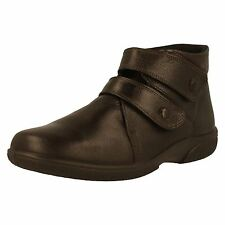 Easy B BRADWELL Chocolate Leather Air Comfort Ankle Boots UK 5 EE EU 38 LG04 85