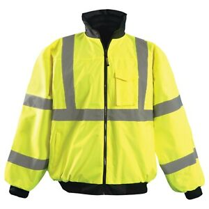 OccuNomix LUX-ETJBJ Type R Class 3 Value Bomber Jacket - Yellow/Lime