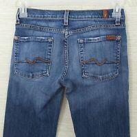 "7 For All Mankind 'Flare' Women's Denim Jeans Size 27 Medium Wash 30"" Inseam"