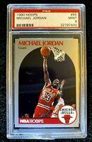 Michael Jordan 1990 NBA Hoops #65 Graded PSA Mint 9 Chicago Bulls HOF