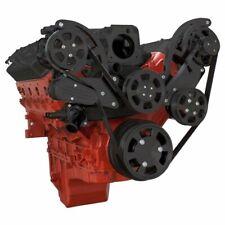 Chevy LS Black Serpentine System All Inclusive High Mount AC PS ALT LS1 LS2 LS3