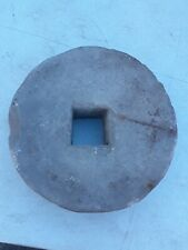 "Antique Mill Stone Grinding Wheel Garden Step Architectural Med Size 11""× 3"""