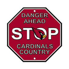 """Arizona Cardinals Country Danger Ahead STOP Sign 12"""" x 12"""" Octagon Made in USA"""