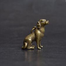 Chinese pure brass dog small statue pendant