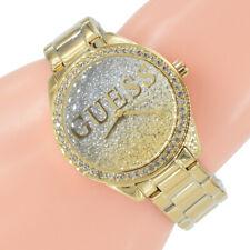 Guess Damen Uhr W0987L2 Glitter Girl Zirkonia Gold Glitzer Farbe Armband