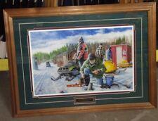 Vintage snowmobile Framed Artwork
