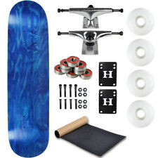 "Moose Complete Skateboard Stain Blue 8.25"" With Silver Trucks and White Wheels"