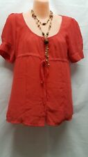 COOPER STREET CORAL SMART CASUAL TOP SIZE 8