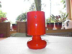 Ikea Vasenlampe Lykta Glas rot weiß - Lampe Leuchte Tischlampe