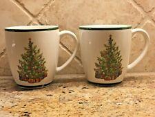 2 Traditions Holiday Celebrations Christopher Radko Mug Cup Christmas Tree Lot