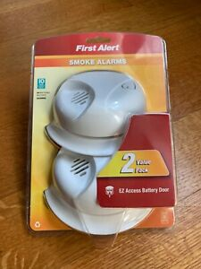 First Alert SAIONB2 Battery Operated Ionization Smoke Alarm, 2-Pack