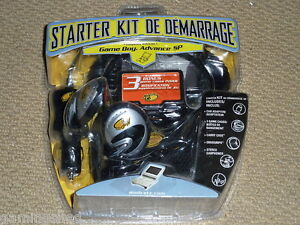 NINTENDO GAMEBOY ADVANCE SP ACCESSORY PACK - NEW! CONSOLE GAME CASE CAR CHARGER