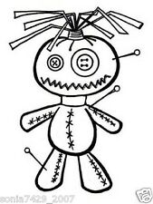 Voodoo Doll Decal Sticker funny Car Truck Laptop