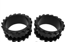PAIR OF BLACK 2g SAW BLADE ENDS FLESH TUNNELS EARLET PLUGS