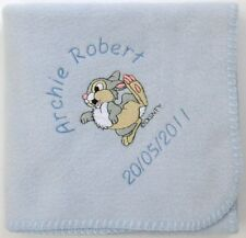 Thumper Baby Blanket, Soft Fleece  ~  Personalised,  or choice of Bambi!