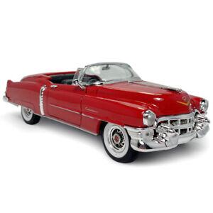1:24 Vintage Cadillac Eldorado Cabriolet 1953 Model Car Diecast Collection Red
