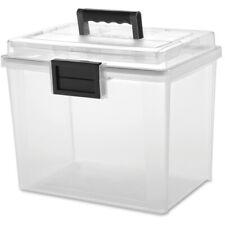 Iris Weathertight Letter Portable File Box 19 Quart Clear Each Irs110350