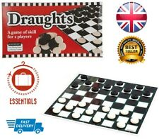 Draughts Square Checkers Board Game Travel Family Gift 25cm Travel Board Games