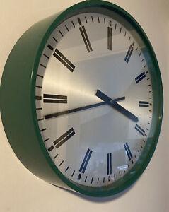 F W. Elliott 1970's UK MOD 12 inch 8 Day Mechanical Wall Clock