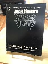 JACK KIRBY Heroes And Villains Black Magic Edition Soft Cover Comic Pin Up 1994.