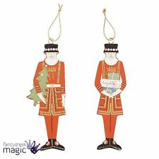 Gisela Graham New Traditional London Beefeater Wooden Christmas Tree Decoration