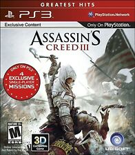PLAYSTATION 3 PS3 GAME ASSASSIN'S CREED III 3 BRAND NEW & FACTORY SEALED