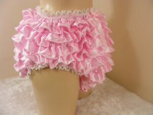 sissy silky satin ruffle panties mens lingerie knickers all sizes colours