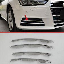 ABS Chrome Front Fog Light Trim For Audi A4 2017 2018