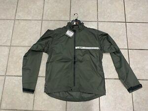 Vespa Regenjacke dunkel olive grün Rain Jacket Jacke 605588m0 mit Reflektor GR L