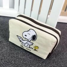 Fashion Canvas Cartoon Snoopy Peanut Canvas Make Up Cosmetic Novelty Travel Bag