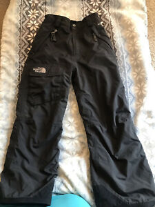 The North Face Boys Hyvent Ski Snow Pants Size  Small Black