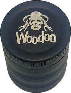 Woodoo Grinder Alu / 4teilig / Ø 50 mm / Höhe 53 mm / 2 Farben (Schwarz & Blau)