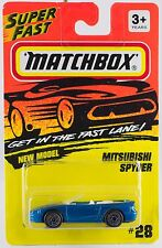 Matchbox Mitsubishi Spyder MB 28 White Interior 1995 Thailand Mint On Card