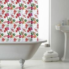 180cm x 180cm FLAMINGO Pattern PEVA Bathroom SHOWER CURTAIN with Rings
