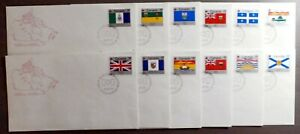 CANADA FDC 1979 : Provincial Flag Series, Set of 12