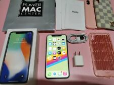USED Apple iPhone X 256GB silver - Factory Unlocked, Complete