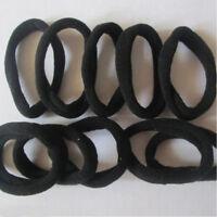 Hot BLACK 10pcs Girls elastic hair ties band rope ponytail bracelets  scrunchie