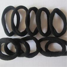 Hot Black 10 Pcs Girls Elastic Hair Ties Band Rope Ponytail Bracelets Scrunchie