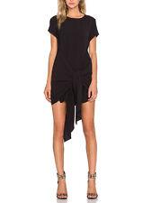 The Fifth Black Looking Back Tie Front Short T Shirt Mini Dress 12 M