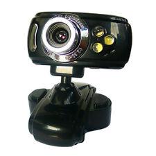 20 Mega USB 3 LED Webcam Cam Camera For PC Laptop Computer Mic PS Black Webcam