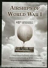 NEVER BEFORE OFFERED MICRONESIA  2015 AIRSHIPS OF WORLD WAR I  S/S  IMPERF NH