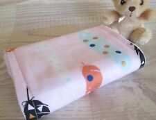 Baby Burp Cloth, READY TO SHIP, Handcrafted, Pink, feathers, Girl