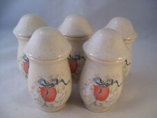 International Stoneware Marmalade 5 Spice Jars w/ Lids Replacements Geese Goose